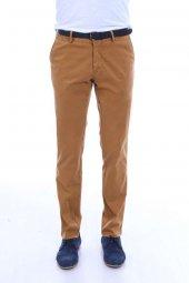 Arka Cep Kapaklı Kahverengi Slimfit Pantolon
