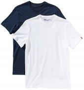 Levis 2 Li Paket Erkek Tişört Beyaz Mavi 82176 0004