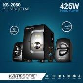 Kamosonic Ks 2060 425w Bluetoothusb Sd Kart Radyo Kumandalı 2+1