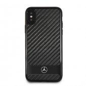 Mercedes Benz İphone X Siyah Karbon Kemerli Kılıf