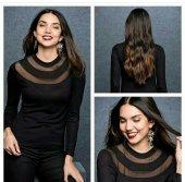 Kadın Siyah Bluz Tunik