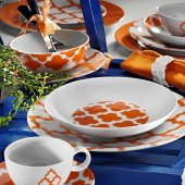 Kütahya Porselen Ikat Serisi Zeugma 24 Parça Yemek Takımı Bant Dekor 8770