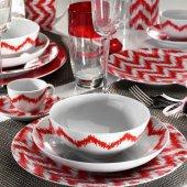 Kütahya Porselen Ikat Serisi Zeugma 24 Parça Yemek Takımı Bant Dekor 8772