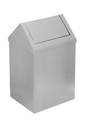 Paslanmaz Sallanır Çatı Kapaklı Çöp Kovası 54 L Flosoft