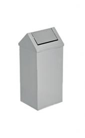 Paslanmaz Sallanır Çatı Kapaklı Çöp Kovası 16 L Flosoft