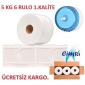 Miref Cimri İçten Çekmeli Tuvalet Kağıdı 6 Rulo 5kg