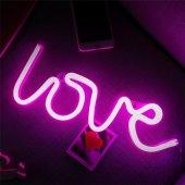 Love Tasarımlı Ledli Gece Lambası