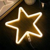 Yıldız Tasarımlı Ledli Gece Lambası