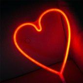 Kalp Tasarımlı Ledli Gece Lambası