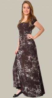 Kadın Kahverengi Batik Elbise