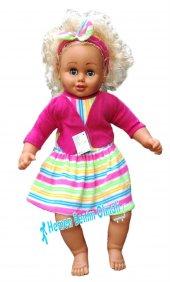 65 Cm Oyuncak Saçlı Etbebek Elbiseli Bebek