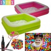 Intex Şişme Tabanlı Çocuk Havuzu Oyun Topu Hediye