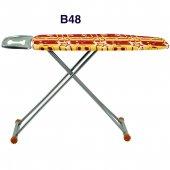 Evform Ütü Masası Sarı Kırmızı Desen B48
