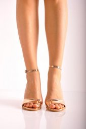 Bayan Günlük Topuklu Ayakkabı 66 Kayısı Ayna