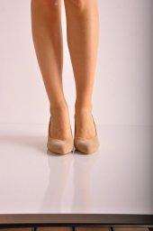 Bayan Günlük Feta Topuk Ayakkabı 223 Ten Süet