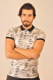 Erkek Krem Spor Tişört