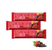 Züber Çilekli Ve Çikolatalı Doğal Meyve Tatlısı, 3 Adet X 40gr
