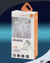 Auris Mikrofonlu Kulaklık Metal Başlık J58 Beyaz