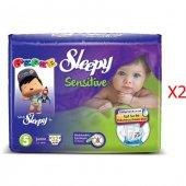 Sleepy Sensitive Junior Bebek Bezi 5 Numara 32*2 64 Adet