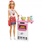 Mattel Barbie Mutfakta Oyun Seti Fhp57
