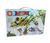 Sy918 Ninja Yeşil Robot Usta Ejderha Lego Seti Dev Boy