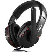 Snopy Sn 338 Siyah Kırmızı Mikrofonlu Kulaküstü Kulaklık