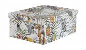 Tropikal Desenli Kapaklı Katlanabilir Karton Kutu32x24x13cm