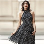 Kadın Şifon Mini Elbise 1579 4