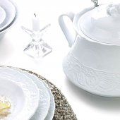 Kütahya Porselen (Mitterteich) Helen 83 Parça Yemek Takımı Dekorsuz