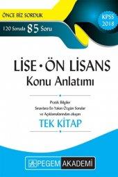Pegem Yayınları 2018 Kpss Lise Ön Lisans Konu Anlatımı Tek Kitap