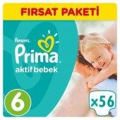 Prima Bebek Bezi No 6 Beden (15+ Kg) 56 Adet Fırsat Paketi