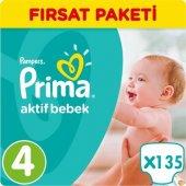 Prima Bebek Bezi No 4 Beden (8 14 Kg) 135 Adet Fırsat Paketi