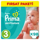 Prima Bebek Bezi No 3 Beden (5 9 Kg) 98 Adet Fırsat Paket