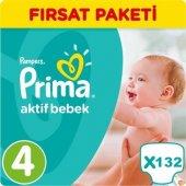 Prima Bebek Bezi No 4 Beden (8 14 Kg) 132 Adet Fırsat Paketi