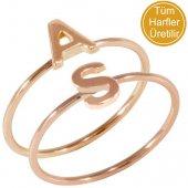 Goldstore 14 Ayar Altın Harf Yüzük Pnj27840