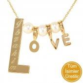 Goldstore 14 Ayar Altın Love İsim Kolye Pnj30704