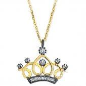 Goldstore 14 Ayar Altın Prenses Tacı Kolye Gp37913