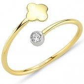 Goldstore 14 Ayar Altın Çiçek Yüzük Grf40202