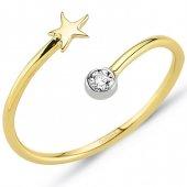 Goldstore 14 Ayar Altın Deniz Yıldızı Yüzük Grf40207