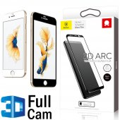 Baseus 3d Arc İphone 7 Plus Kavisli Cam Ekran Koruyucu Full Cam 0.26mm Kırılmaz Ön Yüzü Tam Kaplayan
