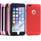 Iphone 6 6s 360 Kılıf Fileli Sert Arka Kapak + Ekran Koruyucu Temperli Cam