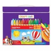 Craft&arts U1524 Ck Çantalı Pastel Boya 24+3 Renk