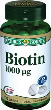 Natures Bounty Biotin 1000mcg 100 Tablet Skt 10 2021