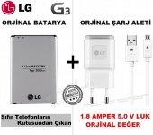 Lg G3 Orjinal Batarya Pil + Lg G3 Orjinal Şarj Aleti Cihazı + Usb