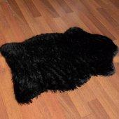 Post Halı Tavşan Tüyü Halı Orjinal Kesim Doğuş Peluş Halı Siyah