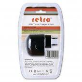 Retro 5v 2.1a İpad, Tablet, Telefon Usb Şarj Adaptörü Siyah Çift Usb