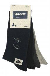 Guzzo 4lü Paket Erkek Likralı Soket Çorap