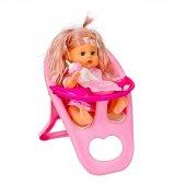 Mama Sandalyeli Sesli Oyuncak Bebek Emzikli Biberonlu