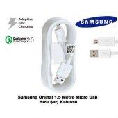 Samsung Galaxy S7 Edge Hızlı Şarj Kablosu Micro Usb Şarj Data Tra