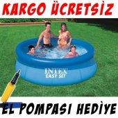 Intex 28110 Mavi Şişme Havuz 244x76cm Pompa Hediye
